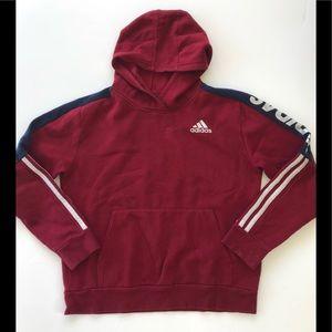 Adidas maroon hoodie girls 14/16 L